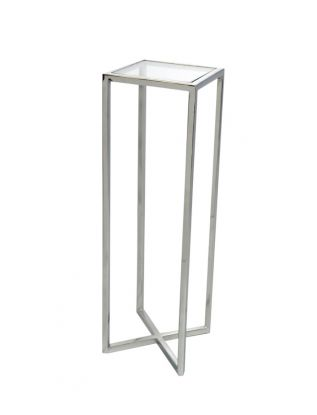 Alissa  Stainless Steel Side Table
