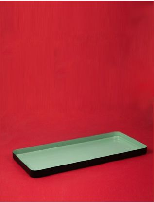 Green Enamel Rectangle Tray-Large