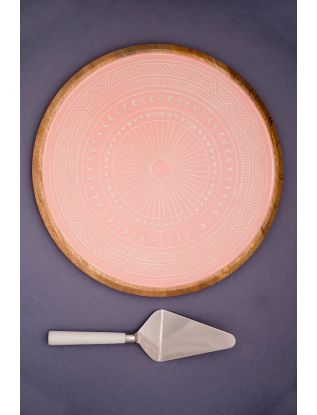 Pink-Pastel Platter with Server