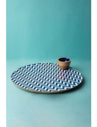 Hypnotic Platter with Dip Bowl
