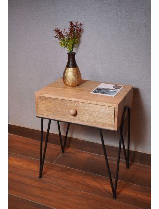 Float End & Side Table With Drawer