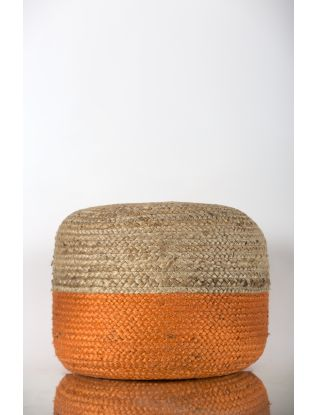 Two Tone Pouffe
