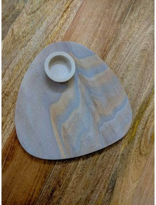 Sandstone Platter with dip bowl