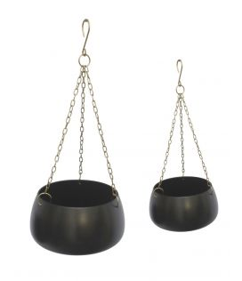 Vintage Hanging Planters - set of 2