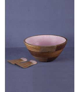 Pink Pattern Bowl with Tossers