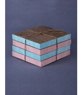 Pastel Zig-Zag Coasters (Set of 6)