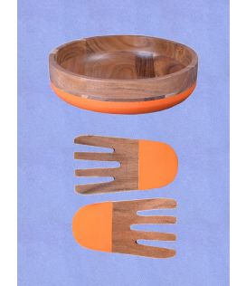 Orange Stripe Bowl with Hand tossers