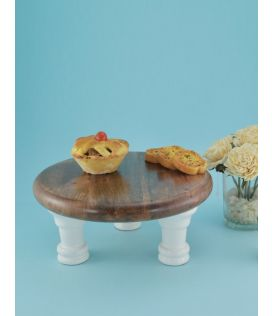 the Earth Enamel Cake Stand - Medium